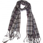 Classic Cotton Plaid Scarf Shawl - Black (70 x 220cm)