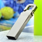 V210w estilo llavero de acero inoxidable USB 2.0 Flash Drive - Silver Grey (32GB)