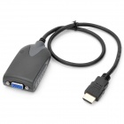 HDMI V1.3 Male to VGA Female Adapter Cable w/ 3.5mm Male to Audio R/L Cable - Black (50cm)