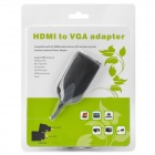 HDMI v1.3 macho a VGA hembra adaptador de cable w / 3,5 mm macho a Audio R / L Cable - Negro (50cm)