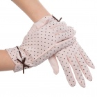 Elegant Prevent Bask Cotton Gloves for Women - Pink (Pair)