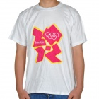 London 2012 Olympic Logo T-shirt - White + Red (Size-XL)