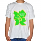 London 2012 Olympic Logo T-shirt - White + Green (Size-XL)