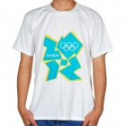 2012 London Olympic Logo T-shirt - White + Blue (Size-XL)