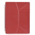 Ultra-Thin PU Leather Smart Cover Stand for iPad 2 / The New iPad - Red