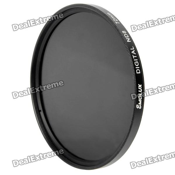 Emolux SQM6014 Neutral Density ND8 Filter - Black (72mm) l