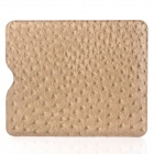 Ostrich Grain Pattern Protective PU Leather Case for Ipad / Ipad2 / New Ipad - Light Golden