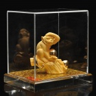 Decorative Chinese Zodiac Golden Statue Figurine - Monkey