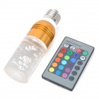 E27 3W 150LM RGB Light LED Crystal Bulb w/ Remote Controller (220V)