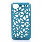 Electroplate Water Cube Skeleton Pattern Protective Plastic Back Case for iPhone 4 / 4S - Blue