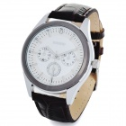 Stylish PU Band Quartz Analog Wrist Watch - White (1 x LR626)