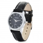 Women's Elegant PU Band Quartz Analog Wrist Watch - Black (1 x LR626)