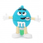 Синий M & M Spokescandy Стиль USB 2.0 Flash Drive (8GB)