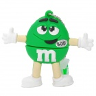 Green M&M Spokescandy Style USB 2.0 Flash Drive (16GB)