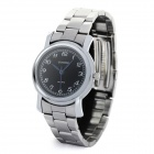Women's Elegant Stainless Steel Quartz Analog Wrist Watch - Black + Silver (1 x LR626)