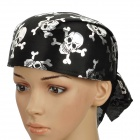 Cool Skull Pattern Soft Pirate Hat Cap - Black + Silver