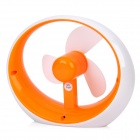 USB Powered 3-Fan-Blade Cooling Fan for Computer - Orange + White (2 x AAA)