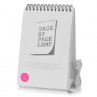 Creative Calendar Style USB Powered Flip Desk Table White Light Night Lamp