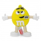 Желтый M & M Spokescandy Стиль USB 2.0 Flash Drive (8GB)