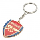 Zinc Alloy Keychain with Arsenal Football Club Logo - Red + Blue
