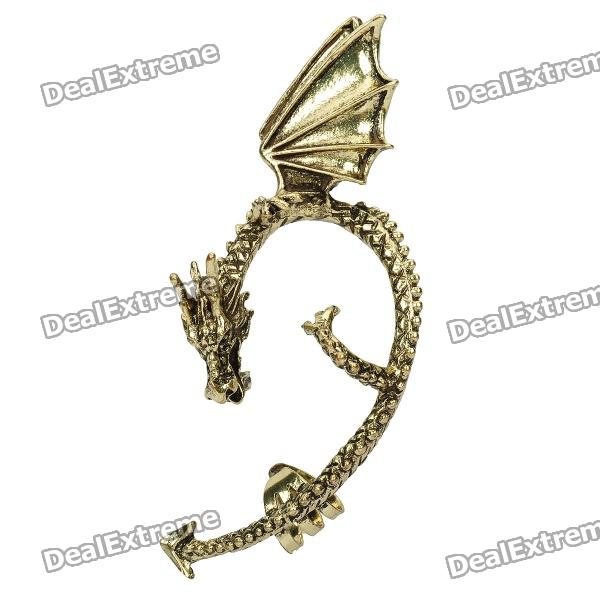 Stylish Fly Dragon Earrings - Bronze