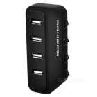 4-Port USB 2.0 HUB w/ Individual Switch & Indicator - Black (45cm)