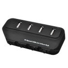 4-Port USB 2.0 HUB w / Switch Individual & Indicator - preto (45 centímetros)
