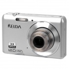 "KELDA HYTO-530 5.0MP CMOS Digital Camera Camcorder w/ SD / USB  - Silver (2.7"" LCD)"