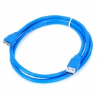 PC USB 3.0 Male to Micro B Male Connector Cable - Blue (150cm)