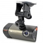 "3.0"" Touch Screen 0.8MP CMOS Dual Lens Car Video Recorder Camcorder w/ TF / GPS - Grey"