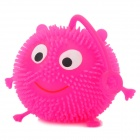 Smiling Face Chuzzle Deluxe Toy mit mehrfarbigen LED Light - Deep Pink (3 x LR44)
