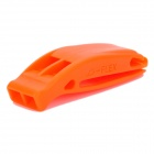 Outdoor Sports Survival Emergency Double-Frequency Whistle - Orange