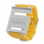 Aluminum Alloy Back Cover + Silicone Wrist Watch Band Strap for iPod Nano 6 - Yellow