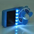 Solar/USB Rechargeable Cooling Fan with 5-LED White Light