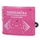 SY-382 Portable USB 2.0 SD / MicroSD / TF / MS / M2 Card Reader w/ USB Cable - Purple (32GB)