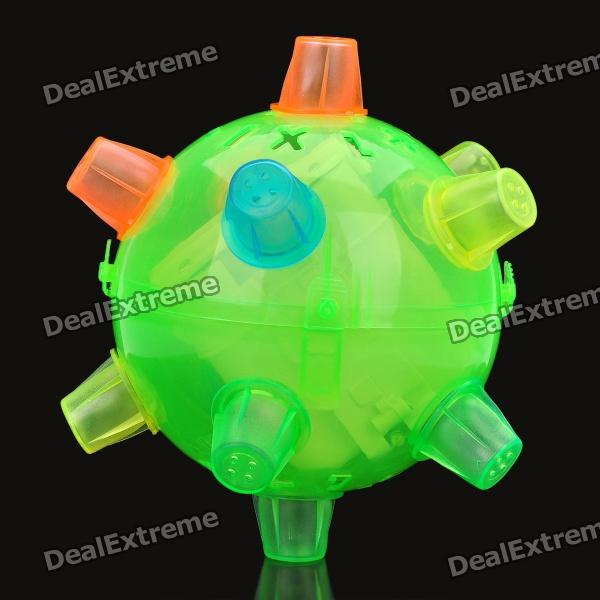 Funny Jumping Ball with Multi-Colored LED Light (4 x AA)