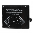 SY-382 Portable USB 2.0 SD / MicroSD / TF / MS / M2 Card Reader w/ USB Cable - Black (32GB)
