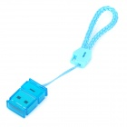 SY-T95 Portable USB 2.0 MicroSD / TF Card Reader w/ Strap - Blue (32GB)