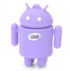 Android Robot Style USB 2.0 Flash Drive - Purple (32GB)