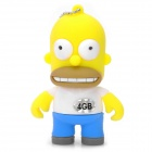 The Simpsons Homer Simpson Figure Style USB 2.0 Flash Drive - Yellow (4GB)