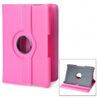 360 Degree Rotating Protective PU Leather Case for Samsung Galaxy Tab P7500 / P7510 - Deep Pink