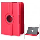 360 Degree Rotating Swivel Protective PU Leather Case for Samsung Galaxy Tab P7500 / P7510 - Red
