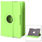360 Degree Rotating Swivel Protective PU Leather Case for Samsung Galaxy Tab P7500 / P7510 - Green