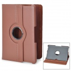 360 Degree Rotating Swivel Protective PU Leather Case for Samsung Galaxy Tab P7500 / P7510 - Brown
