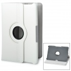 360 Degree Rotating Swivel Protective PU Leather Case for Samsung Galaxy Tab P7500 / P7510 - White