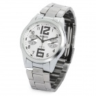 Stylish Stainless Steel Quartz Analog Wrist Watch - White (1 x LR626)