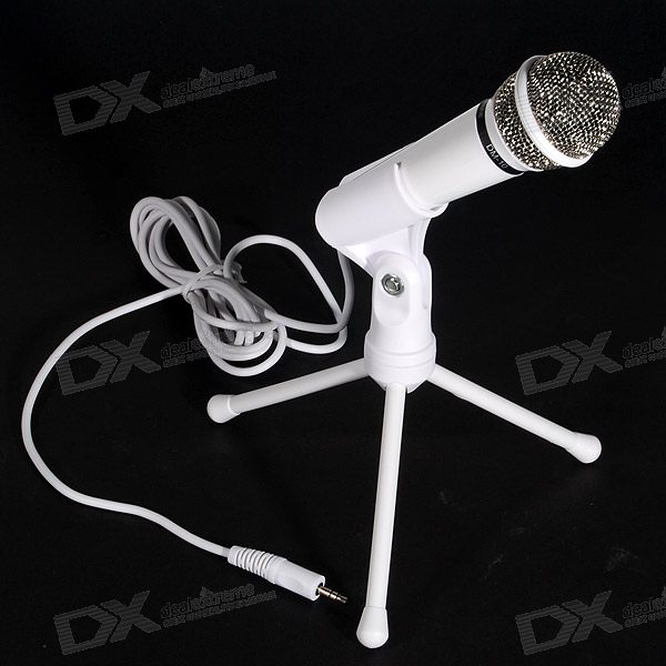 PodCast/Audio Production Semi-Pro Microphone with Tripod (Stereo 3.5mm Jack / 2.5M Cable)