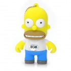 The Simpsons Homer Simpson Figure Style USB 2.0 Flash Drive - Yellow (8GB)