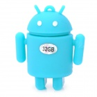 Android Robot Style USB 2.0 Flash Drive - Blue (32GB)