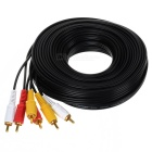 3-RCA Male to Male Connection Cable - Black (900cm)